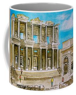 The Library At Ephesus Turkey Coffee Mug by Frank Hunter