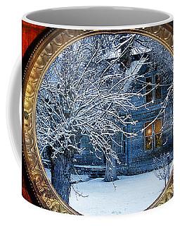 Coffee Mug featuring the photograph The Light In The Window by Gunter Nezhoda