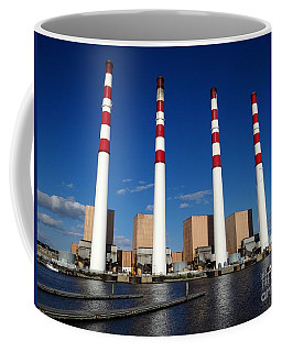 Coffee Mug featuring the photograph The Lilco Towers by Ed Weidman