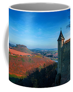 The Lilienstein Behind The Fortress Koenigstein Coffee Mug