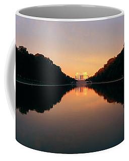 The Lincoln Memorial At Sunset Coffee Mug