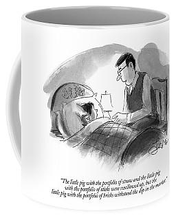 The Little Pig With The Portfolio Of Straw Coffee Mug