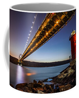 The Little Red Lighthouse Coffee Mug by Mihai Andritoiu