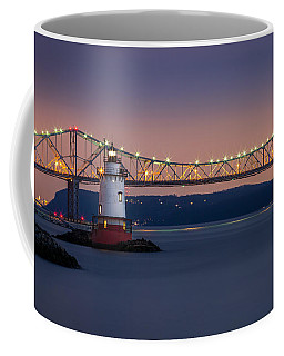 The Little White Lighthouse Coffee Mug by Mihai Andritoiu