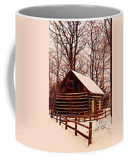 The Log Cabin At Old Mission Point Coffee Mug
