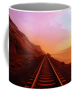 Coffee Mug featuring the photograph The Long Walk To No Where  by Jeff Swan
