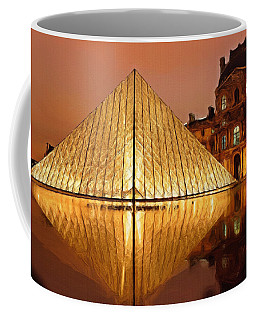 The Louvre By Night Coffee Mug