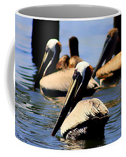 The Lovely Pelican  Coffee Mug by Debra Forand