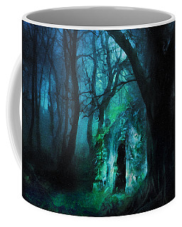 The Lovers Cottage By Night Coffee Mug