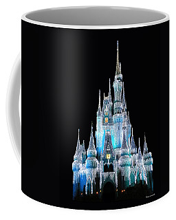The Magic Kingdom Castle In Frosty Light Blue Walt Disney World Coffee Mug