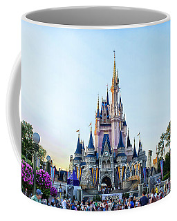 The Magic Kingdom Castle On A Beautiful Summer Day Horizontal Coffee Mug by Thomas Woolworth