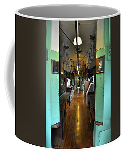 Coffee Mug featuring the photograph The Mail Car From The Series View Of An Old Railroad by Verana Stark