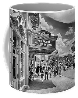 Coffee Mug featuring the photograph The Main Street Cinema by Howard Salmon