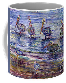 The Majestic Pelican Visit Coffee Mug