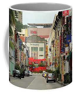 Coffee Mug featuring the photograph The Majestic Theater Chinatown Singapore by Imran Ahmed