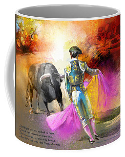 The Man Who Fights The Bull Coffee Mug