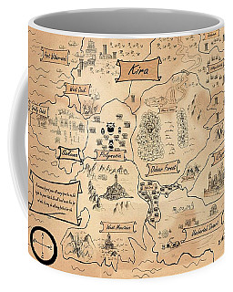 Coffee Mug featuring the painting The Map Of Kira by Reynold Jay