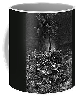 The Mariner Gazes On The Ocean And Laments His Survival While All His Fellow Sailors Have Died Coffee Mug