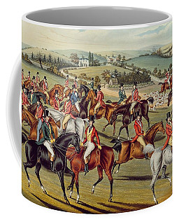 'the Meet' Plate I From 'fox Hunting' Coffee Mug