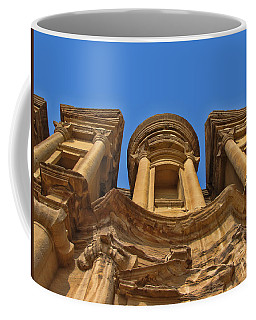 Coffee Mug featuring the photograph The Monastery In Petra by David Gleeson