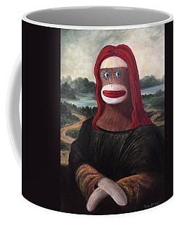 The Monkey Lisa Coffee Mug by Randy Burns