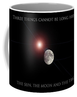 Coffee Mug featuring the photograph The Moon by Pennie  McCracken