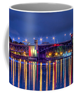 Coffee Mug featuring the photograph Morrison Bridge - Pdx  by Thom Zehrfeld