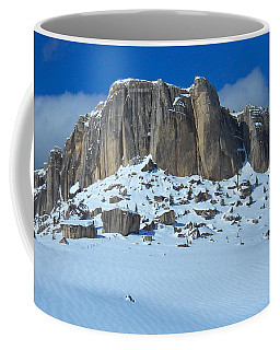 Coffee Mug featuring the photograph The Mountain Citadel by Michele Myers