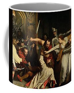 The Murder Of Rizzio, 1787 Oil On Canvas Coffee Mug