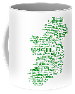 The Music Of Ireland - Limited Edition Typographic Poster Print  Coffee Mug
