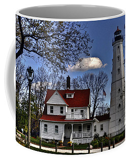 Coffee Mug featuring the photograph The Northpoint Lighthouse by Deborah Klubertanz