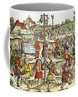 The Nose Dance, After A 16th Century Woodcut By Nikolaus Meldemann.  A Rural German Dance Festival Coffee Mug