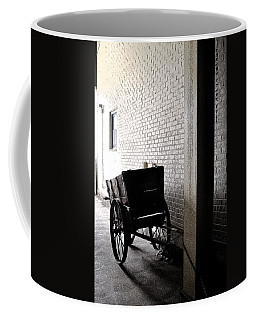 Coffee Mug featuring the photograph The Old Cart From The Series View Of An Old Railroad by Verana Stark
