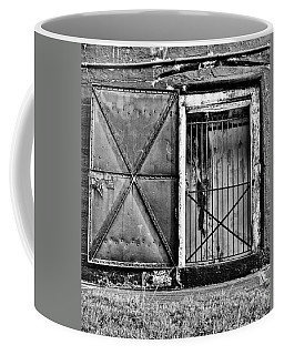The Old Fort Gate-black And White Coffee Mug