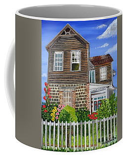Coffee Mug featuring the painting The Old House by Laura Forde