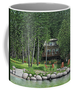 The Old Lawg Caybun On Lake Joe Coffee Mug by Kenneth M  Kirsch