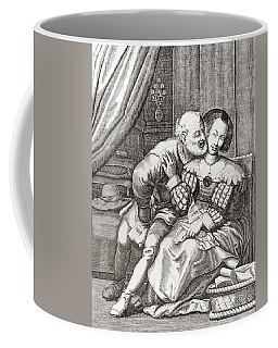 The Old Prurient, After A 16th Century French Engraving By Jaspar Isaac.   From Illustrierte Coffee Mug