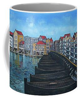 The Old Queen Emma Bridge In Curacao Coffee Mug by Frank Hunter