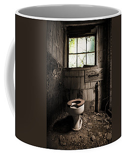 The Old Thinking Room - Abandoned Restroom And Toilet Coffee Mug