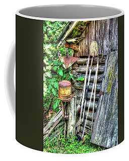 Coffee Mug featuring the photograph The Old Tool Shed by Lanita Williams
