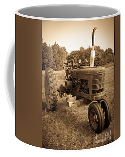 The Old Tractor Sepia Coffee Mug