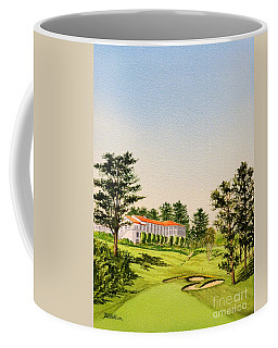 Coffee Mug featuring the painting The Olympic Golf Club - 18th Hole by Bill Holkham
