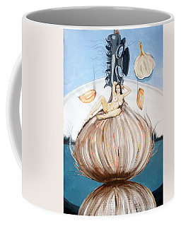 The Onion Maiden And Her Hair La Doncella Cebolla Y Su Cabello Coffee Mug by Lazaro Hurtado