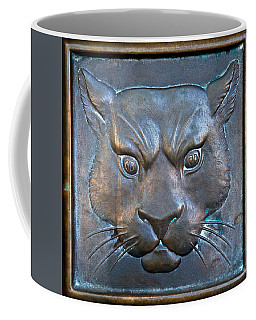 The Original Todd Hall Cougar Door Pulls - Washington State University Coffee Mug