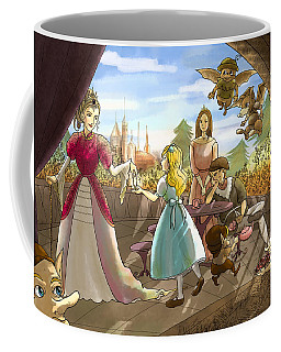 Coffee Mug featuring the painting The Palace Balcony by Reynold Jay
