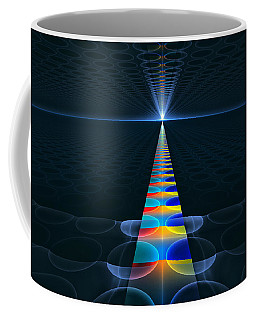 Coffee Mug featuring the digital art The Path Ahead by GJ Blackman