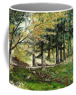 Coffee Mug featuring the painting The Path by Sorin Apostolescu