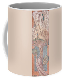 The Pelican, Cartoon For Stained Glass For The William Morris Company, 1880 Coloured Chalk On Paper Coffee Mug