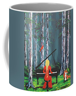 The Pianist In The Woods Coffee Mug
