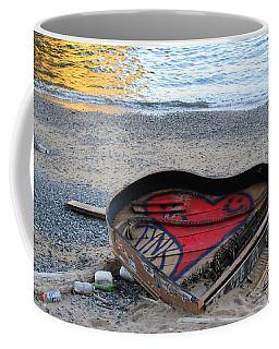 The Piano In New York Harbor Coffee Mug